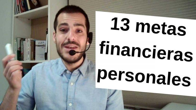 ejemplos de metas financieras personales
